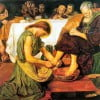 Madox Brown Jesus washing Peter