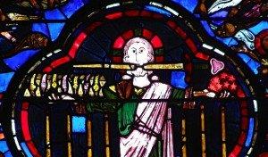Le-Christ-tenant-le-livre-aux-7-sceaux-et-les-7-étoiles-debout-devant-les-7-chandeliers-Vitrail-de-l-Apocalypse-Cathédrale-de-Bourges