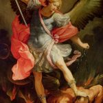 What is Michael doing with his angels in Revelation 12?