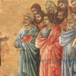 The risen Jesus with the Eleven in Luke 24