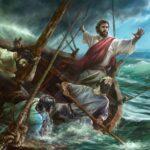 Jesus calms the storm in Mark 4